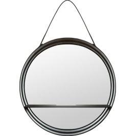 Зеркало декоративное круглое с полкой на ремне 55 см