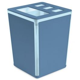 Подставка для зубных щёток Spacy пластик цвет васильковый/голубой