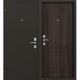 Дверь металлическая Стефан, 860 мм, левая, цвет орех тёмный
