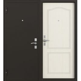 Дверь металлическая Стефан, 960 мм, левая, цвет лиственница белая