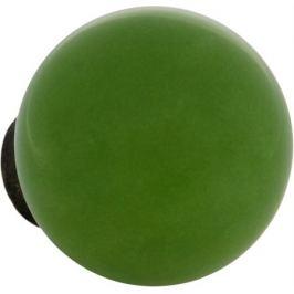Ручка-кнопка мебельная KF12-15, керамика, цвет салатовый
