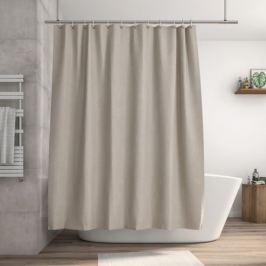 Штора для ванны Neo Rough 180x200 см, полиэстер, цвет коричневый