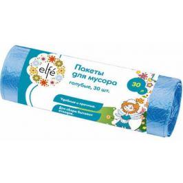 Пакеты для мусора 30 л, цвет голубой, 30 шт.
