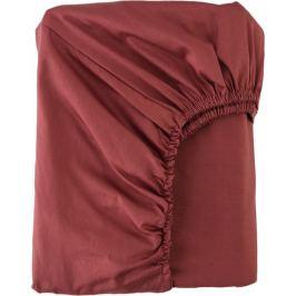 Простыня полутороспальная Mona Liza Premium, 200x160 см, сатин, цвет кирпичный