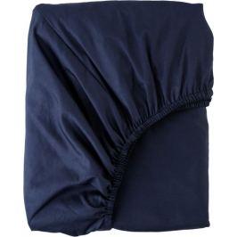 Простыня полутороспальная Mona Liza Premium, 200x160 см, сатин, цвет тёмно-синий