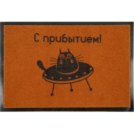 Коврик придверный «Кот» 40x60см, полипропилен, цвет коричневый