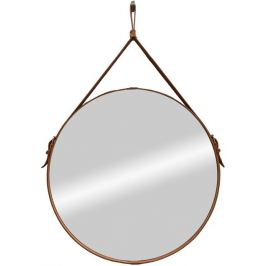 Зеркало декоративное «Миллениум браун» на ремне, круг, Ø65 см