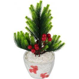 Горшок с искусственным растением «Олень красный»