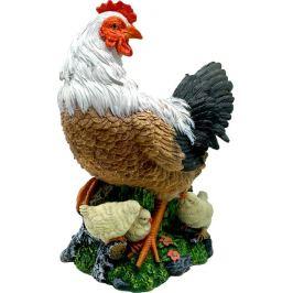 Садовая фигура «Курица с цыплятами» высота 41 см