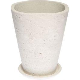 Горшок «Конус высокий» Ø150 мм, цемент, цвет белый
