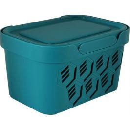 Ящик Deluxe, 189х110x132 мм, 1.9 л, полипропилен, цвет голубой