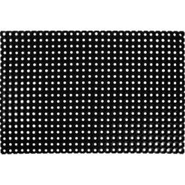 Коврик Flavio 80x120 см, резина, цвет чёрный