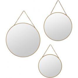Зеркало декоративное круглое цвет золотой 3 шт.