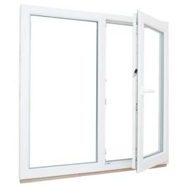 Окно ПВХ двустворчатое 130(127)х120 см глухое/поворотное правое