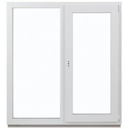 Окно ПВХ двустворчатое 130(127) х100 см глухое/поворотное правое