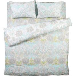 Комплект постельного белья Alice двуспальный сатин цвет зелёный/серый