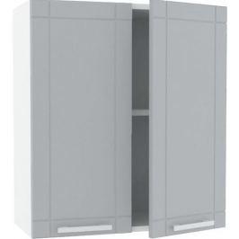 Шкаф навесной «Тортора» 60x68 см, МДФ, цвет серый