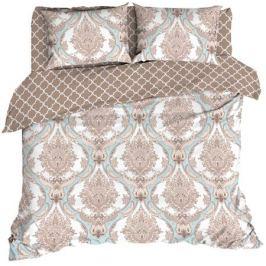 Комплект постельного белья «Венеция», евро, бязь, коричневый/белый