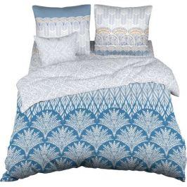 Комплект постельного белья «Элегия» евро сатин цвет серый