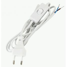 Шнур с выключателем 2 м, цвет белый