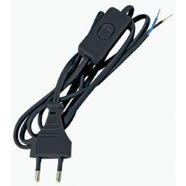 Шнур с выключателем 2 м, цвет черный