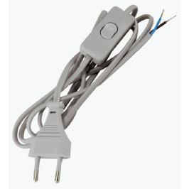 Шнур с выключателем 2 м, цвет серый