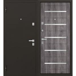 Дверь металлическая Гросс Техно, 860 мм, левая, цвет дуб серебристый