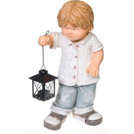 Фигура садовая «Мальчик с фонарем» высота 45 см