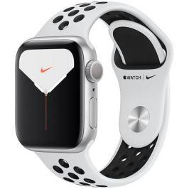Смарт-часы Apple Watch Nike Series 5 44 мм серебристый, спортивный ремешок