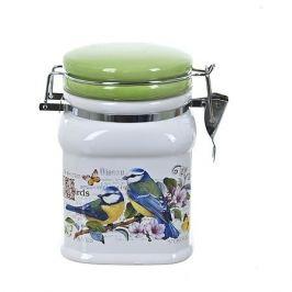 Банка д/сыпучих продуктов с клипсой Birds 700мл, керамика