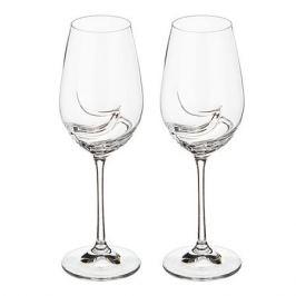Набор бокалов для вина CRYSTALEX Турбуленc 2шт 350мл гладкое бесцветное стекло, 40774/350/2