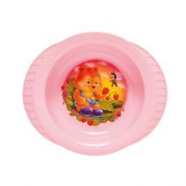 Тарелка детская с набором вилок и ложек ПОЛИМЕРБЫТ, 19см, пластик, 4342200
