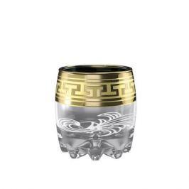 Набор стаканов для виски ГУСЬ ХРУСТАЛЬНЫЙ, Золото, 6шт, 305мл, с декором, стекло, GE01-415/ GE08-415