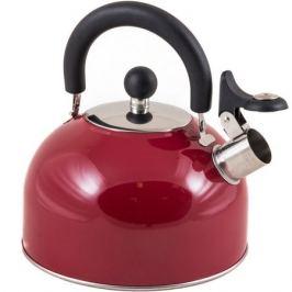 Чайник со свистком Mallony, 2,5л, красный, нержавеющая сталь