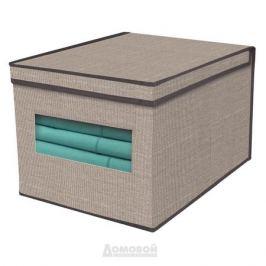 Кофр с крышкой для хранения, бежевый, 40х30х25 см, нетканый материал