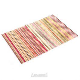 Салфетка сервировочная, 45х30см, цветные полоски, бамбук