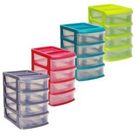 Бокс для хранения М-ПЛАСТИКА, 4 ящика, средний, 175x272x255, пластик