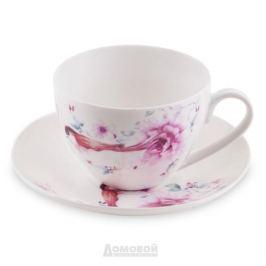 Пара чайная HOME CAFE Птичка, 220мл, костяной фарфор, костяной фарфор