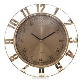 Часы настенные D., Круг с секундами 6827, d30,5см, пластик, золото