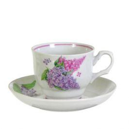Пара чайная ДОБРУШСКИЙ ФЗ Подарочная Сирень, 500мл, фарфор,