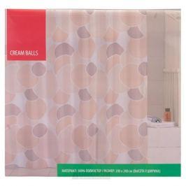 Занавеска для ванной комнаты IDDIS cream balls, 200х240 см, полиэстер 230P24RI11