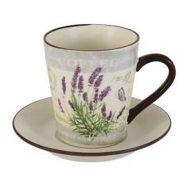 Пара чайная ANNA LAFARG LF CERAM Лаванда, 200мл, керамика, AL-430F8556-1-L-LF