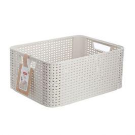 Корзина для хранения CURVER Rattan Style Box, 39х29х19см, пластик, кремовая