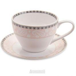 Пара чайная ESPRADO Arista Rose, 315мл, костяной фарфор, ARR031RE303