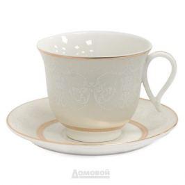 Набор чайный HOME CAFE 6 персон, 12 предметов 220мл, костяной фарфор
