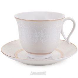 Пара чайная HOME CAFE, 220мл, костяной фарфор