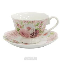 Пара чайная HOME CAFE Розы, 220мл, костяной фарфор