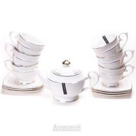 Сервиз чайный КОРАЛЛ Снежная Королева 6 персон, 13 предметов круглая фарфор, 749260