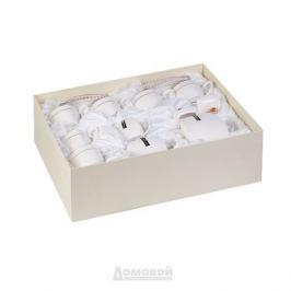 Сервиз чайный КОРАЛЛ Снежная Королева 6 персон, 15 предметов квадратный фарфор, 749196