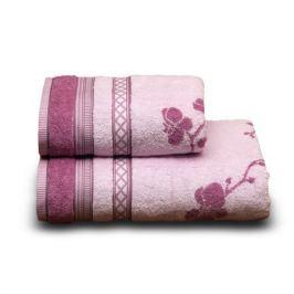 Полотенце махровое CLEANELLY Рамэто, 70х140см, розовый, 35% бамбук, 65% хлопок